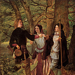 The Mock Marriage of Orlando and Rosalind, A Scene from «As You Like It» by William Shakespeare