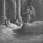 Gustave Dore - Before the gates there sat On either side a formidable shape