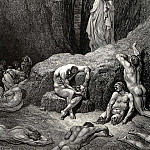 Gustave Dore - But Virgile tells me -What are you looking at. Why are you still looking at thos