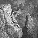 Gustave Dore - With head hands wings or feet pursues his way And swims or sinks or wades or creeps