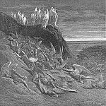 Gustave Dore - On the foughten field Michael and his angels prevalent Encamping placed in guard their wa