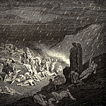 Gustave Dore - Ever and ever their hands tried to get rid of these flames