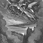 Gustave Dore - So numberless were those bad Angels seen Hovering on wing under the cope of Hell