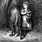 Gustave Dore - Red Riding Hood meets old Father Wolf