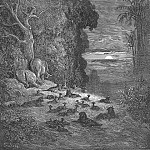 Gustave Dore - And now on earth the seventh Evening arose in Eden