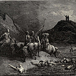 Gustave Dore - One cried from far -Say to what pain ye come condemn-d who down this steep have j