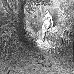 Gustave Dore - Back to the thicket slunk The guilty serpent