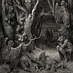 Gustave Dore - It is here where the hideous Harpies build their nests