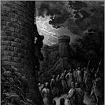 Gustave Dore - crusades bohemond mounts rampart of antioch