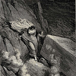 Gustave Dore - From the profound abyss behind the lid of a great monument we stood retir-d
