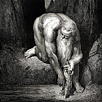 Gustave Dore - He placed us carefully on the bottom of the gorge where Lucifer and Judas are tortured