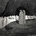 Gustave Dore - Tuscan who visitest the college of the mourning hypocrites