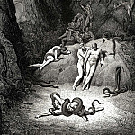 Gustave Dore - The two others looked at him shouting -Agnel how terribly your appearance is changing-