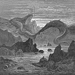 Gustave Dore - And seems a moving land and at his gills Draws in and at his trunk spouts out a sea
