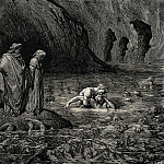 Gustave Dore - As Tydee angrily gnawed Menelippes temples he was also biting into his skull and ate the brain