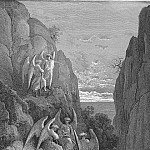 Gustave Dore - So promised he and Uriel to his charge