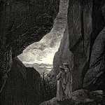 Gustave Dore - My guide and I entered the hidden path leading to our well lighted world
