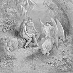 Gustave Dore - To whom the winged Hierarch replied O Adam one Almighty is from whom All things proceed