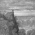 Gustave Dore - Now to the ascent of that steep savage hill Satan hath journeyd on pensive and slow