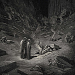 Gustave Dore - He answer thus return-d -The arch heretics are here accompanied by every sect the