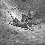 Gustave Dore - Then Satan first knew pain And writhed him to and fro