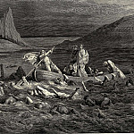 Gustave Dore - Soon as both embark-d cutting the waves goes on the ancient prow more deeply than with others it is wont
