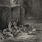 Gustave Dore - Why greedily thus bendest more on me than on these other filthy ones thy ken
