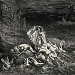 Gustave Dore - Now seest thou son. The souls of those whom anger overcame