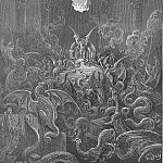 Gustave Dore - Dreadful was the din Of hissing through the hall thick swarming now With complicated monst