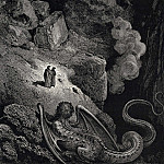 Gustave Dore - This hideous chimera of fraud approached us