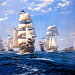 J Steven Dews - The Bicentennial First Fleet arriving at Botany Bay January 1988