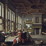 Distinguished Dinner Company in an Interior