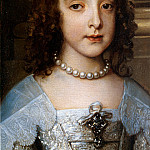 Detail Willem II and princes Mary, Anthony Van Dyck