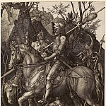 Durer Engravings - Knight, Death and the Devil