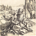 Durer Engravings - Unequal pair (Proposal of love)