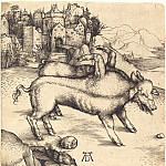 Durer Engravings - Pig-freak