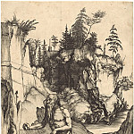 Durer Engravings - Saint Jerome, the penitent in the desert