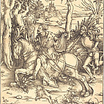 Durer Engravings - Knight on horseback and landsknecht