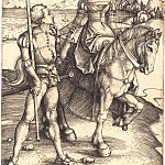 Lady riding and landsknecht, Durer Engravings