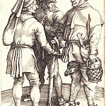 Three interviews peasant, Durer Engravings