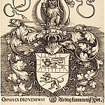 Durer Engravings - Coat of Arms of Lorenz Staiber