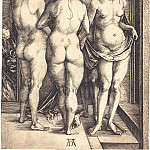Durer Engravings - Four Witches (Four naked women)