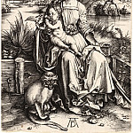Madonna and Child with monkey, Durer Engravings