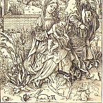 The Holy Family with three hares, Durer Engravings