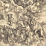 Beast with seven heads and the number of its 666 Probably, Durer Engravings