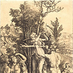 Durer Engravings - Hercules at the Crossroads (Orpheus and the Bacchantes)