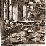 Saint Jerome in His Study, Durer Engravings