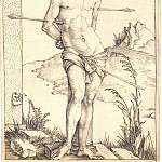 Durer Engravings - Saint Sebastian near the column