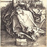 Durer Engravings - Madonna on a grassy bench