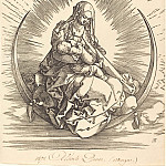 Durer Engravings - Madonna of the Crescent